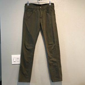 J. crew 484 Slim fit Jeans Olive Green